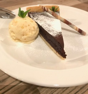 Chocolate Tart & Ginger Ice cream